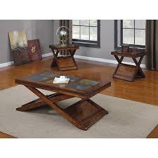 three piece table set dark oak finish 3 piece coffee table set free shipping today