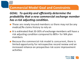 commercial risk model the evolution of predictive analytics in maaged care