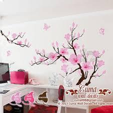 Cherry Blossom Wall Decal For Nursery Baby Flower Wall Decal Nursery Wall From Cuma On Etsy