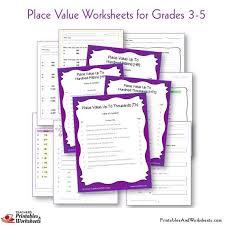 place value worksheets grades 3 5 printables u0026 worksheets