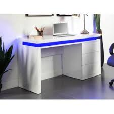bureau laqué blanc marque generique bureau emerson 3 tiroirs mdf laqué blanc