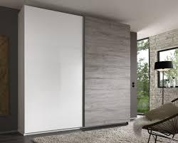 armoire de chambre design armoire design 2 portes coulissantes blanc laqué gris stevia
