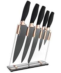 kitchens knives amazon com 6 piece knife set 5 beautiful rose gold knives with