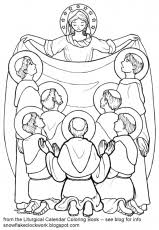 All Saints Day Family Activity Coloring Page Free Printable Saints Colouring Pages