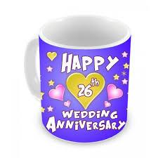 26th wedding anniversary 26th wedding anniversary gift coffee mug