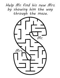 maze wedding coloring book
