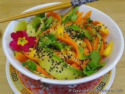 cuisine balinaise cuisine en folie salade balinaise carotte concombre mangue et
