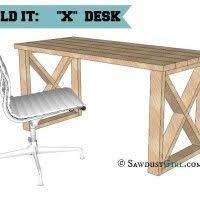 Diy Desk Plan X Leg Desk Plans And Tutorial Free And Easy Plans From Https