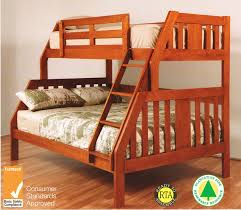 Timber Bunk Bed Troy Single Timber Bunk Bed