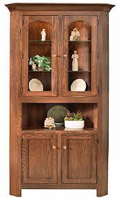 Corner Hutch Cabinet True Wood U0027s Lancaster Legacy Corner Cabinets