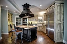 kitchen island vent black wooden kitchen island vent overlooking two tones bar