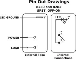 wiring single pole single throw spst rocker switch with light
