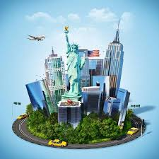 New York Travelers Stock images Famous symbols of new york city traveling to america stock photo jpg
