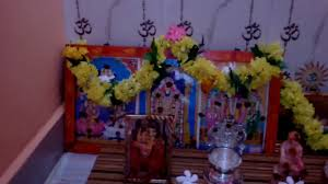 flower decoration in home ganesh chaturthi simple decorations in home youtube