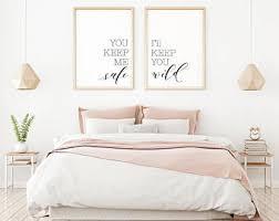 bedroom wall decor etsy
