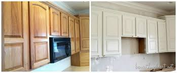 Painting Old Kitchen Cabinets Before And After Painting Kitchen Cabinets White Beneath My Heart