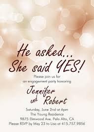 affordable shimmery engagement invitation cards