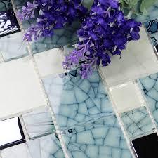 Mosaic Tiles Bathroom Floor - glass tile backsplash pattern blue white blh016 mosaic tile brick