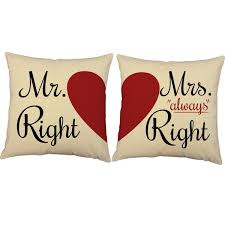 mr and mrs pillows mr mrs always right accent pillows couples heart throw pillows