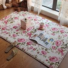 Teen Rug Amazon Com Short Velvet Romantic Pink Rose Carpet Area Rug For