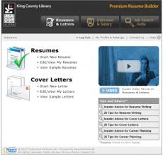 Website Resume Builder Prepare For A Job Search With Resume Builder King County Library