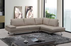 Beige Sectional Sofas Casa Modern Beige Leather Sectional Sofa
