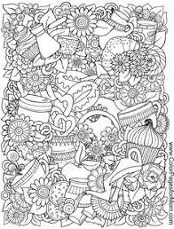 vector illustration zen tangle swing flowers