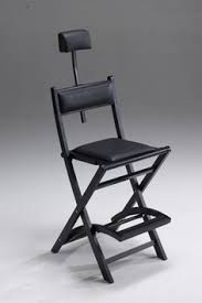 Reclining Makeup Chair Portable Makeup Artist Chair Black Wooden Make Up Chair S104 With