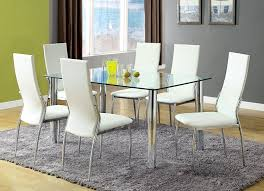 amazon com furniture of america novae 7 piece dining set with