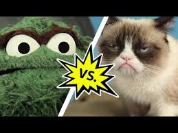 Oscar The Grouch Meme - oscar the grouch vs grumpy cat mashable youtube