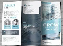 40 professional free tri fold brochure templates word psd