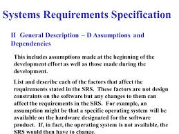 software requirements specification document systems requirements