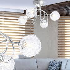 Esszimmer Deckenlampe 4 Flammige Deckenlampe Mit Drahtgeflecht Und Halogen Orina Lampen