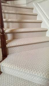 Mahogany Banister Stair Nice Stair Design With Cream Patterned Carpet Stair Runner