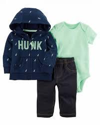 Basta Conjunto Carters Menino Hunk - três peças: calça + body + casaco  @FR23