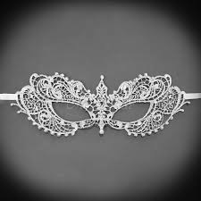 silver mask lace masquerade mask rhinestones shades of grey silver