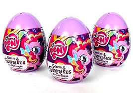 easter eggs surprises 3 my pony eggs with my pony sticker