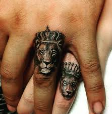 lion and lioness tattoos for couples lion publications
