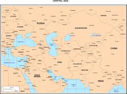 Central Asia Map by Maps Of Asia