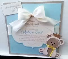 mis ideas u0026 creaciones by patty chalas bear baby shower invitations