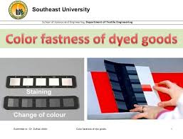 Color Fastness To Washing - color fastness of dyed goods