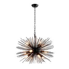 Sputnik Chandelier Y Decor 12 Light Black Sputnik Chandelier Lz3349 12 Ba The Home