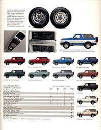 interior exterior color pallet options for 92 96 ford bronco forum