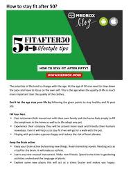 stay fit in your own home how to stay fit after fifty by sameerk issuu