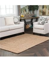 find the best deals on bleached ivory basket weave jute rug