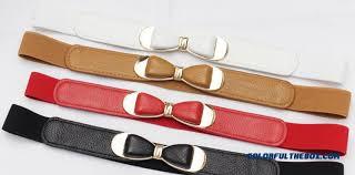 bow belts cheap women ornamental summer new bow belt simple style