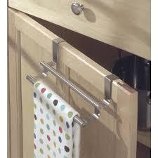 over cabinet door towel bar dish towel holder double over cabinet door kitchen towel bar image