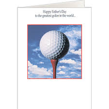 tee u0027d off golf father u0027s day card golf cards for dad on the ball