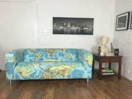 ikea klippan sofa atlas cotton print cover for ikea klippan sofa hipica interiors