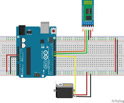 how to control servo motor from android app 4 steps